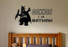 Lego Batman Inspired Wall Decals Custom Personalized Name Decals Infin8graphics On Artfire Batman Inspired Wall Decals Lego Batman