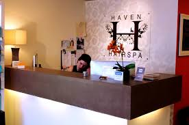 haven hair salon reception desk new