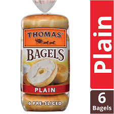 plain soft chewy pre sliced bagels