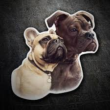 Sticker Dog French Bulldog Couple Muraldecal Com