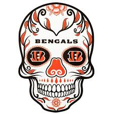 Applied Icon Nfl Cincinnati Bengals Outdoor Skull Graphic Large Nfos0703 The Home Depot
