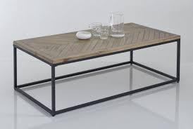 metal pine parquet coffee table