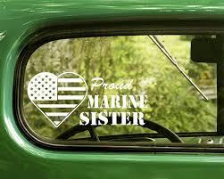 Proud U S Marine Sister Usmc Decal 2 Stickers Bogo Usmc Decal Decals Stickers Marine