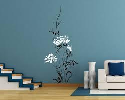 Lotus Flowers Vinyl Wall Art Decal Modern Stickers