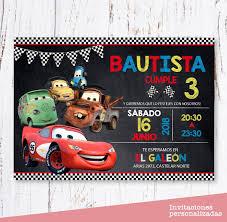 Invitaciones Cars Cumpleanos Digital 125 00 En Mercado Libre