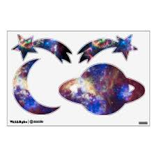 Moon And Stars Wall Decals Stickers Zazzle