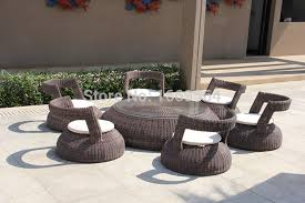 round shaped low seating garden dining
