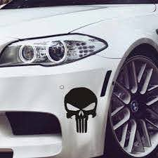14 9 5cm Cool Skull Punisher Car Sticker Car Cartoon Vinyl Sticker Reflective Vinyl Car Decal Wholesale Car Styling Accessories Car Stickers Aliexpress
