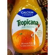 tropicana orange juice calcium and