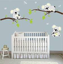 Amazon Com Large Koala Tree Branch Wall Decals Diy Wall Decals Peel And Stick Wall Sticker Nursery Baby Room Wall Stickers Wall Art Home Decor 78 W X 42 5 H Baby