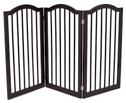 Internet S Best Pet Gate With Arched Top 3 Panel 36 Inch Tall Fence Free Standing Folding Z Shape Indoor Doorway Hal Pet Gate Pet Safety Gate Puppy Gates