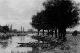 A punt in a river landscape by Adrian Scott Stokes on artnet