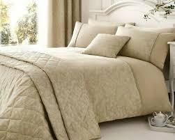 serene jacquard duvet quilt cover beige