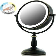 oil rubbed bronze makeup mirror lighted