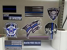 Bumper Stickers Decals Magnets Decals By Haley Mega Variety Pack Of Thin Blue Line Police Officer Blue Lives Matter American Flag Vinyl Decal Sticker Car Truck Blm 9 Pack Bumper