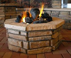 lava rocks popping in fire pit outdoor