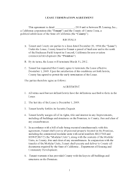 47 early lease termination letters