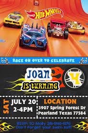 Hot Wheels Invitation Cars Invitation Hot Wheels Birthday