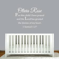 For This Child I Have Prayed Custom Name Wall Decal
