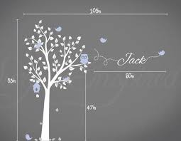 Aria Owl Tree Wall Decal With Birds And Custom Name Nursery Wall Decal Surface Inspired Home Decor Wall Decals Wall Art Wooden Letters