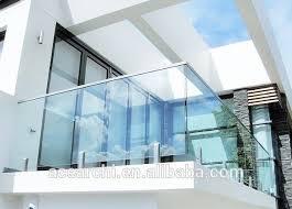 modern design inox balcony glass