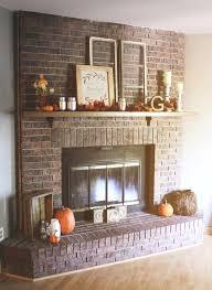 brick fireplace surround best red
