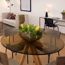 30 inch bronze colored glass table