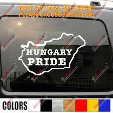 Hungary Pride Hungarian Map Decal Sticker Outline Silhouette Car Vinyl Home B Car Stickers Aliexpress