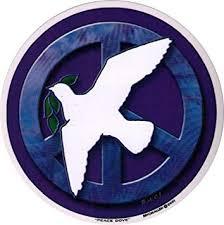 Amazon Com Peace Dove Peace Window Sticker Decal Circular 4 5 Translucent Automotive