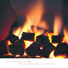 ceramic coals embers for gas fireplace