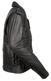 mens black leather half belt motorcycle