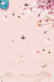 جديدة جميلة حالمة رومانسية وردية خلفية زهور لوحة
