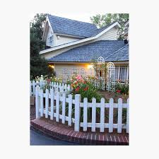 A Pretty Little House With Pretty Little Flowers And A White Picket Fence Framed Art Print By Jmburleykneece Redbubble