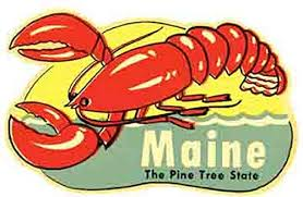 Maine The Pine Tree State Lobster Vintage Decal Sticker Souvenir Skateboard Laptop Shefinds