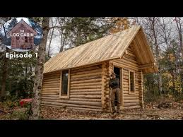 Build A Log Cabin With Fence Posts In My Backyard Youtube