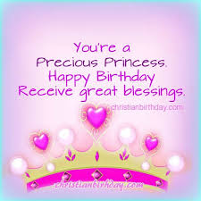 christian card birthday sister friend daughter princess