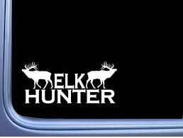 Elk Hunter L805 8 Inch Sticker Bugle Call Camo Hunting Bull Etsy
