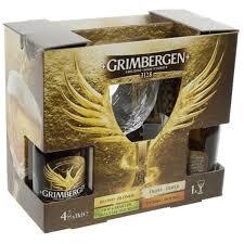 grimbergen gift pack 4x33cl 1 gl