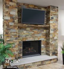 attractive natural stone fireplaces