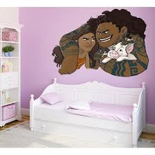 Shop Moana Maui Cartoon Full Color Wall Decal Sticker K 776 Frst Size 52 X80 Overstock 20979854
