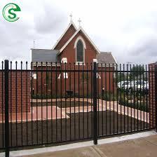 China High Quality Ornamental Metal Steel Tubular Apartment House Fence China Garrison Fencing Iron Tubular Fence