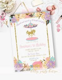 Pin De Ana M En Girl Party Ideas Fiesta Carrusel Invitaciones