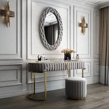 stainless steel frame console table