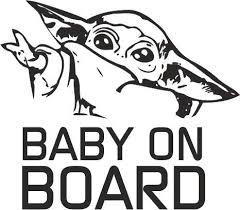 Level 33 Baby Yoda On Baord Car Vinyl Buy Online In Albania At Desertcart
