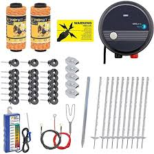 Voss Pet Electric Fence Complete Kit Amazon Co Uk Garden Outdoors