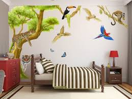 Jungle Cat Wall Stickers Jungle Wall Stickers Leopard Decal Etsy