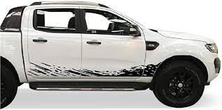 Amazon Com Bubbles Designs Decal Sticker Vinyl Mud Splash Kit Compatible With Ford Ranger T6 2011 2017 Black Automotive