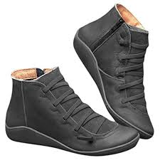 ankle boots fashion lace up