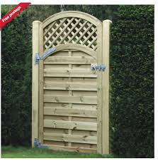 Arched Garden Gate Fence With Lattice Top Trellis Fence Trellis Fence Panels