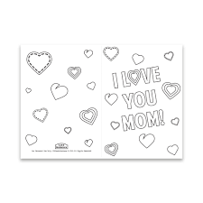 Mother's Day Coloring Card - Hearts - Printable in LDS Holiday on  LDSBookstore.com
